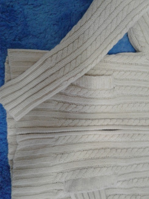 Gap Chunky Warm Cable Knitted Zipped Front Made In China Cardigan Image 5