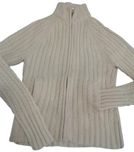 Gap Chunky Warm Cable Knitted Zipped Front Made In China Cardigan