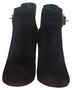 c6be3728cc9 Tory Burch Padded Foot Rubber Sole Gold Bucket Elastic Gore Suede Black  Boots