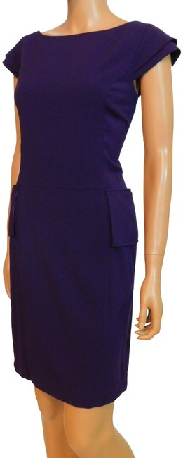 Item - Purple Ponte Knit Short Work/Office Dress Size 6 (S)