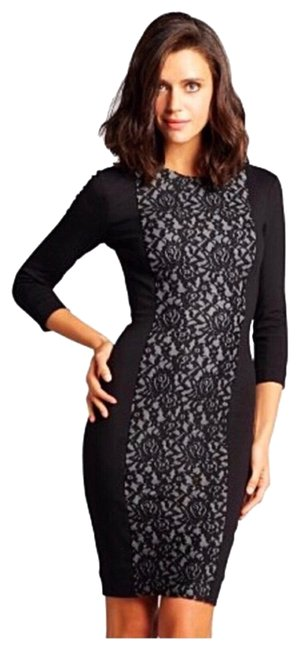 Preload https://img-static.tradesy.com/item/24744881/french-connection-black-cream-long-sleeves-stretch-short-casual-dress-size-4-s-0-1-650-650.jpg