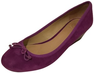 Tory Burch Purple Platforms