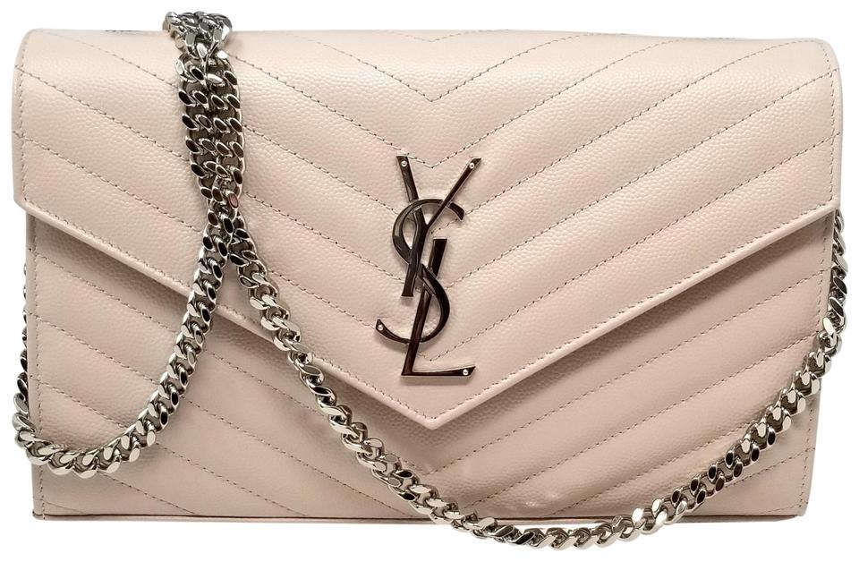 f07c230e1a Saint Laurent Chain Wallet Monogram Woc Matelasse Beige Leather Cross Body  Bag