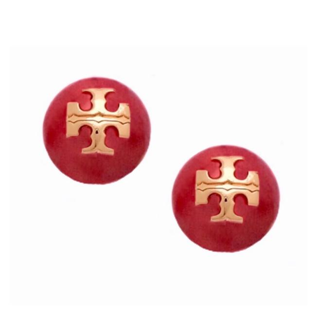 Item - Red Evie Logo Earrings
