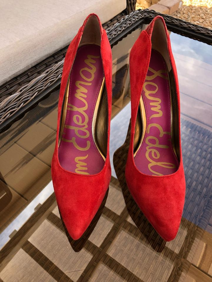 dd5ac5dfbcfc84 Sam Edelman Red Celia Pumps Size US 7.5 Regular (M
