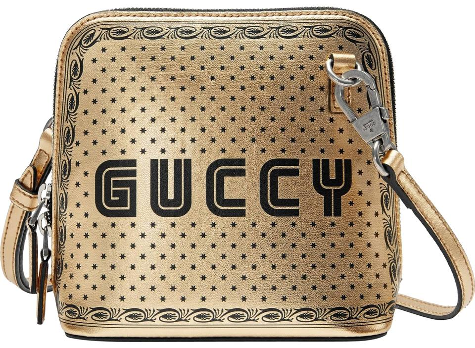 8cd62c01f5 Gucci New Logo Moon and Stars Gold Leather Cross Body Bag 19% off retail