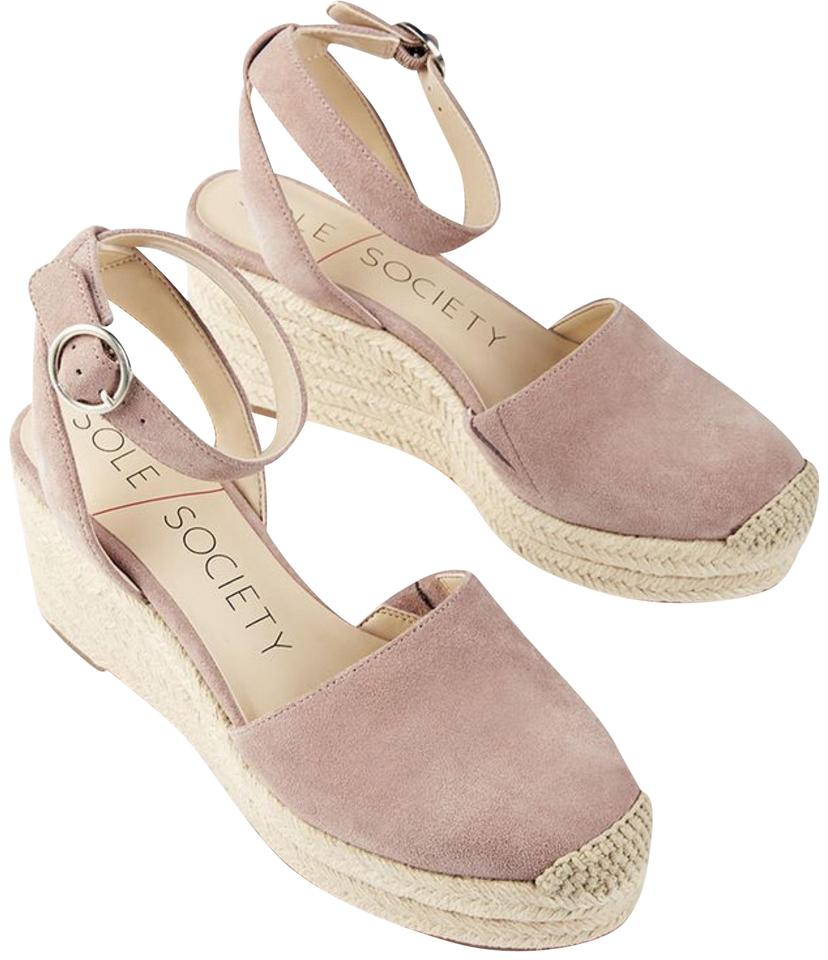 52c7f3f0276 Sole Society Blush Channing Espadrille Suede Sandals In Dusty Rose Wedges