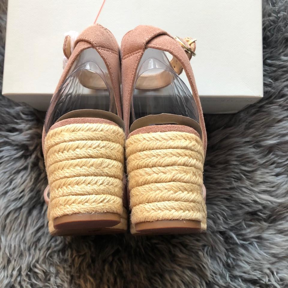 ef48e264e74f Sole Society Blush Channing Espadrille Suede Sandals In Dusty Rose ...