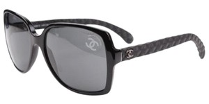 Chanel CHANEL Sunglasses CH5289Q Square Black Quilted