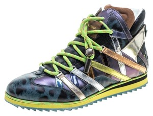 Dolce&Gabbana Leather Multicolor Athletic