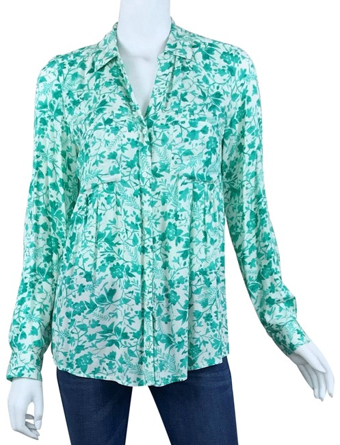 Item - Green Islet Floral Button-down Top Size 2 (XS)