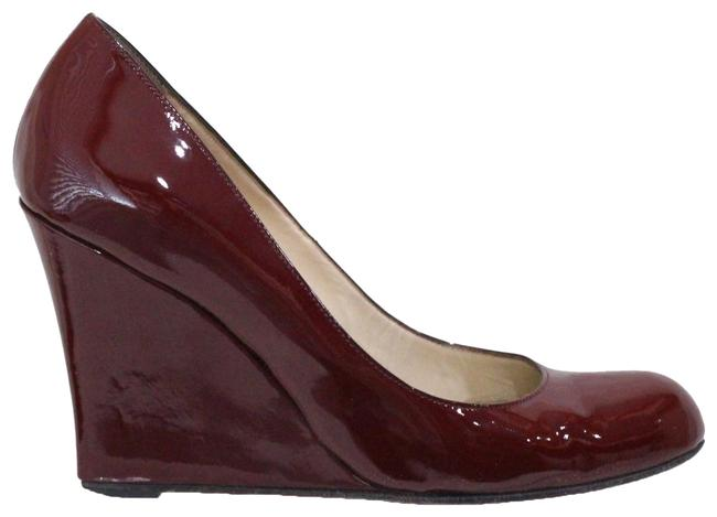 Item - Red Ron Ron Zeppa Patent Leather Wedges Size EU 39.5 (Approx. US 9.5) Regular (M, B)