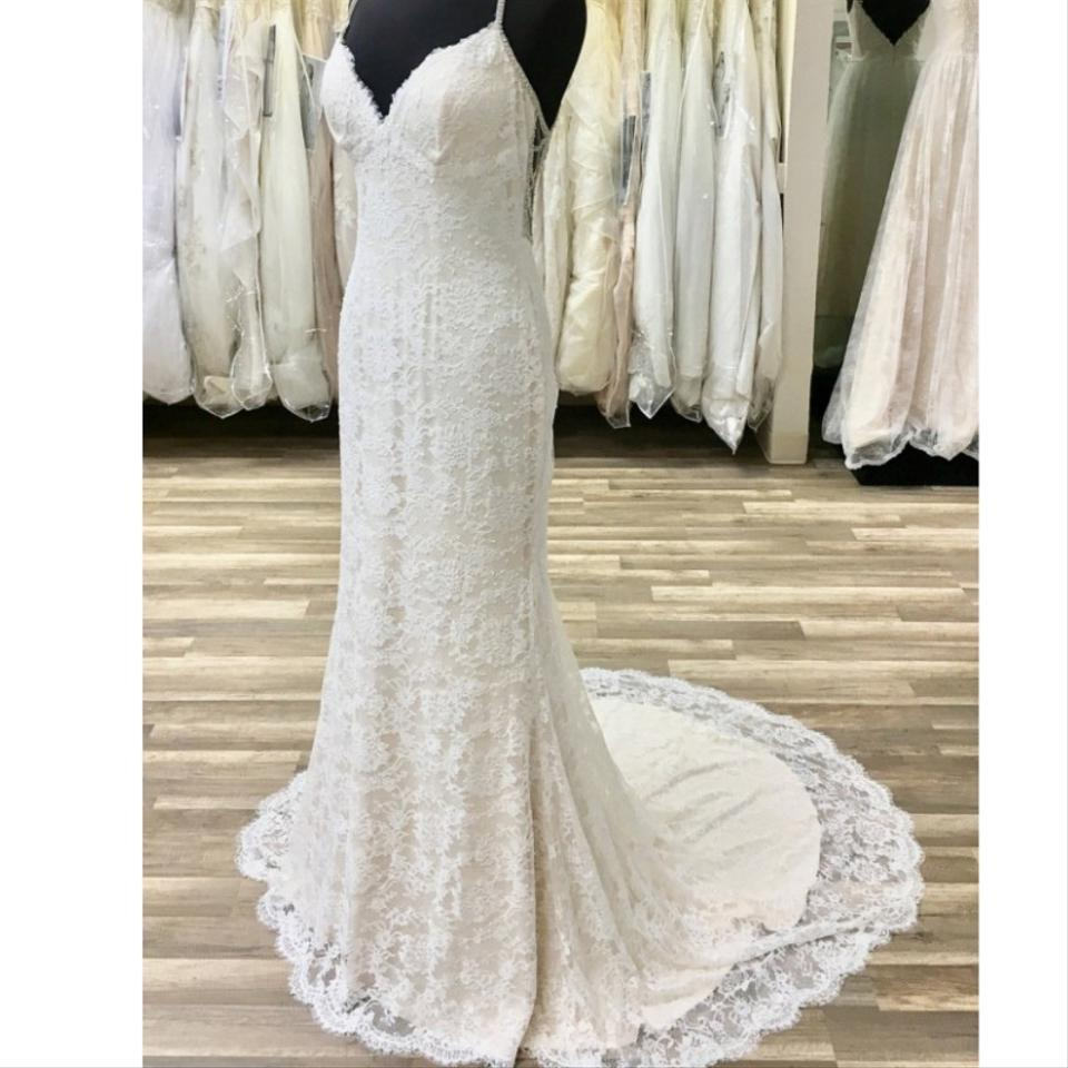 Maggie Sottero Lace Wedding Gown: Maggie Sottero Ivory Over Champagne Lace Sinclaire By