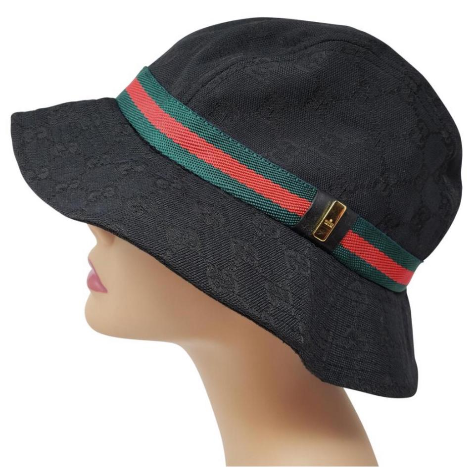2e81a0c1b1b Gucci Black with Green Red Accent Bucket Hat - Tradesy