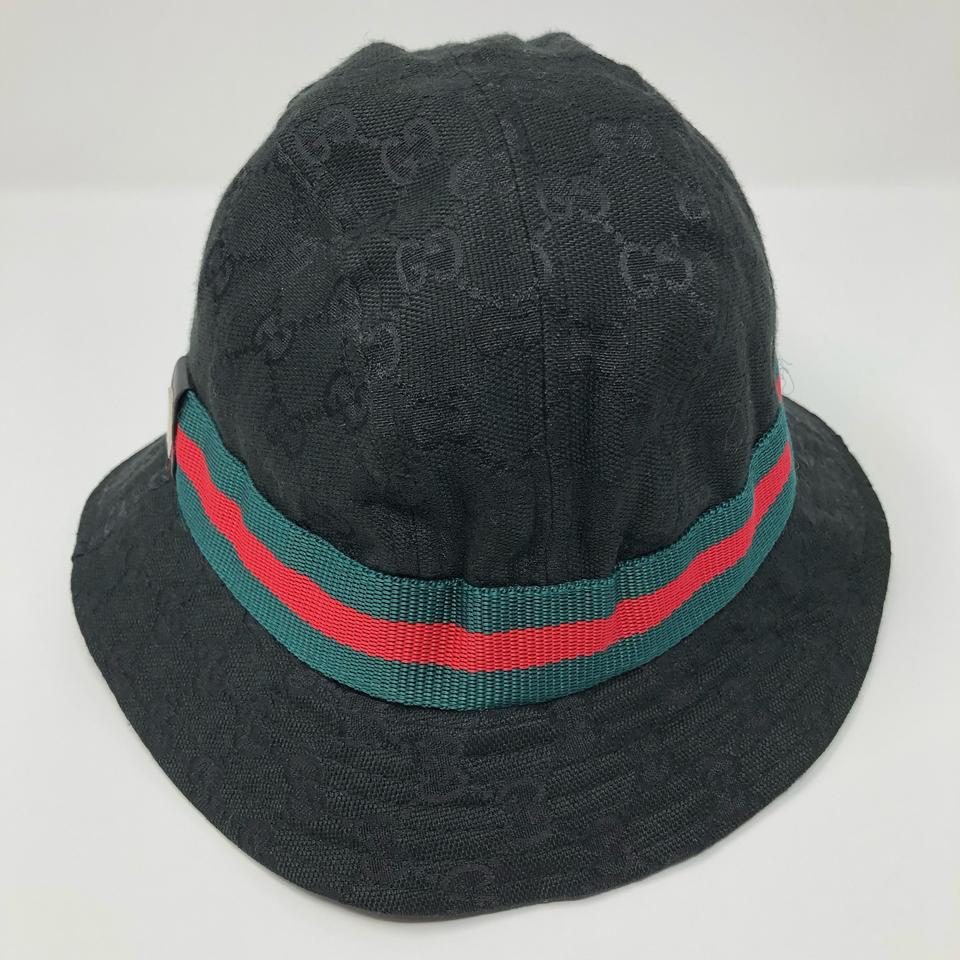 876cbe949a37 Gucci Black with Green Red Accent Bucket Hat - Tradesy
