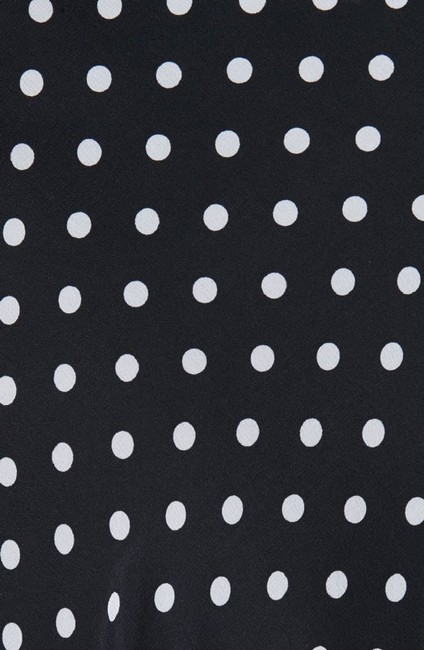 Lewit Polka Dot A Line Silk Lace Skirt Navy Image 5