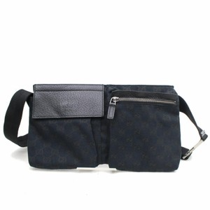 d36017c44c56 Gucci Fanny Pack/Waist Pouch Black Canvas Weekend/Travel Bag - Tradesy