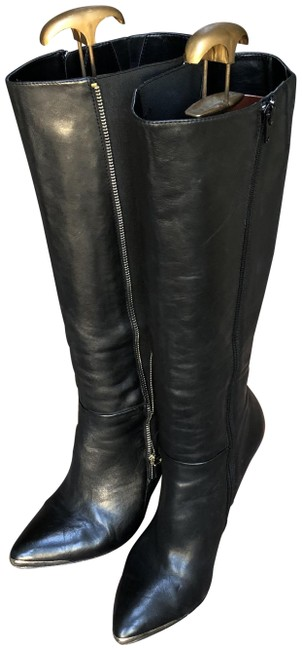 Item - Black Leather Tall Boots/Booties Size US 9 Regular (M, B)