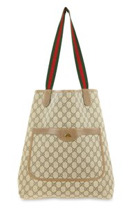 a3d81133c5d Gucci Beige Coated Canvas Gg Plus Tote in Brown