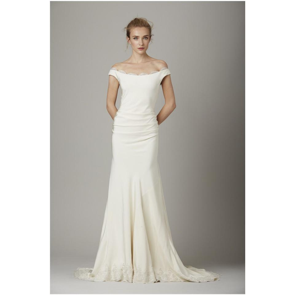 352e925309c Lela Rose Ivory The Marina Silk Gown Feminine Wedding Dress Size 12 ...