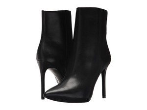 Michael Kors Leather Pointed Toe Stiletto Black Boots