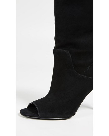 Michael Kors Suede Leather Open Toe Slouch Black Boots Image 4