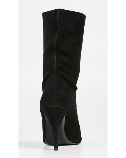 Michael Kors Suede Leather Open Toe Slouch Black Boots Image 8