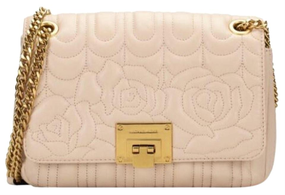 f7b1a0b51cea Michael Kors Vivianne Chain Quilted Floral Sloan Pink Leather Shoulder Bag