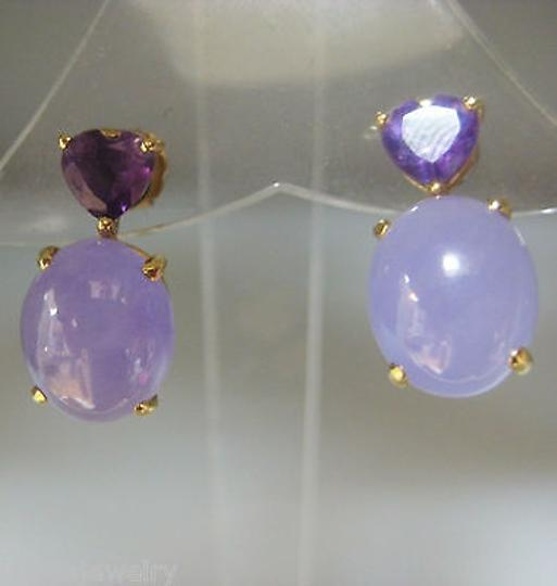 earrings gold large jade purple rose lavender carved ops products earring