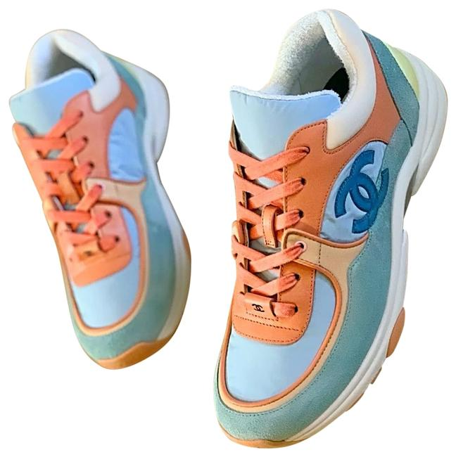 Item - Coral Light Blue Lace Up Suede Cruise 19 Sneakers Size EU 40.5 (Approx. US 10.5) Regular (M, B)