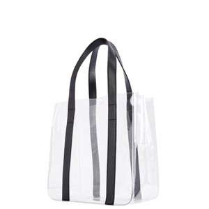 JustFab Tote in Clear & Black