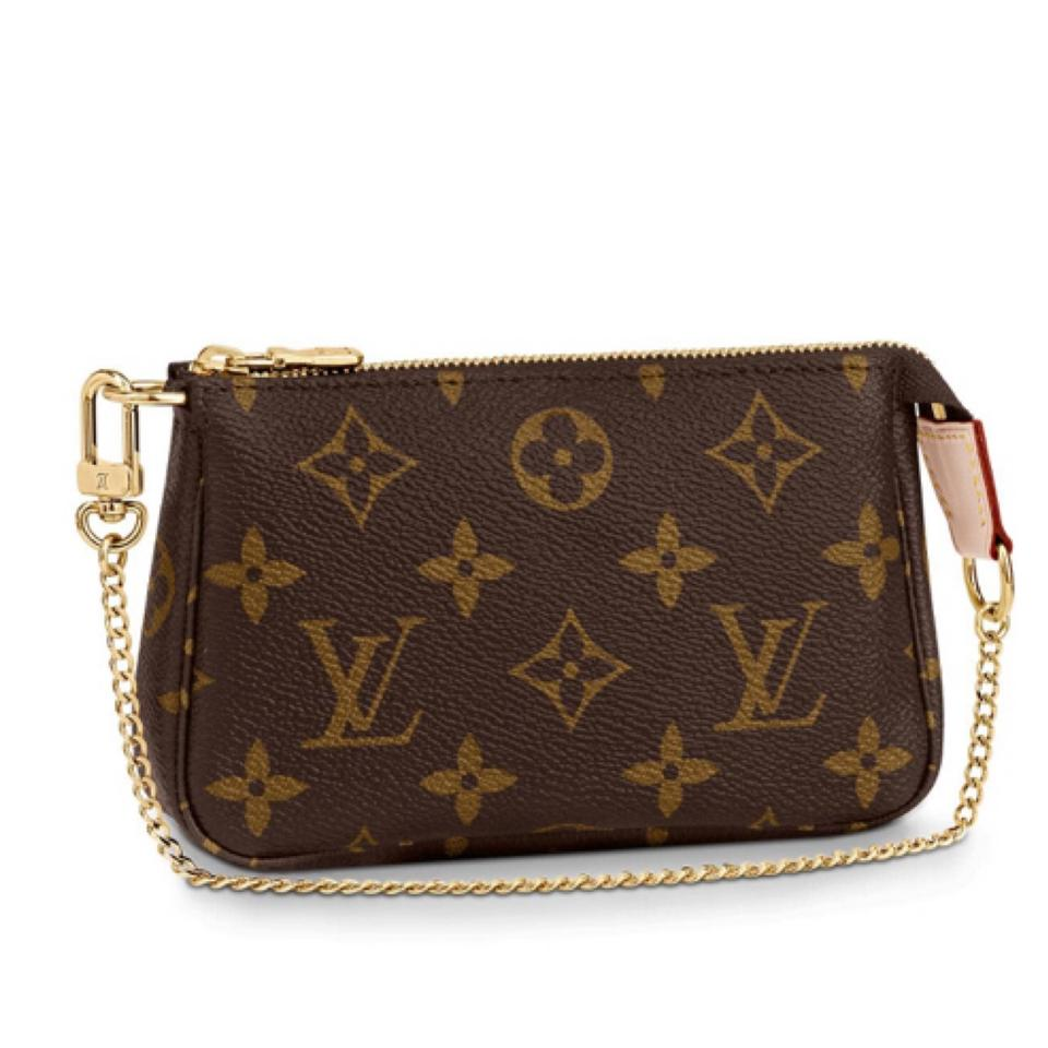 8dbc0fecd829 Louis Vuitton Pochette Mini Pouch limited edition Monogram Canvas Wristlet  ...