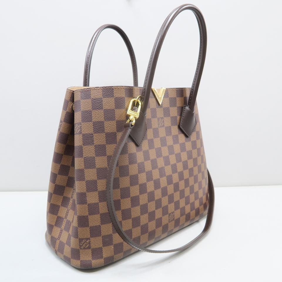 75a0be14ab53 Louis Vuitton Kensington Damier Ebene Brown Canvas Satchel - Tradesy