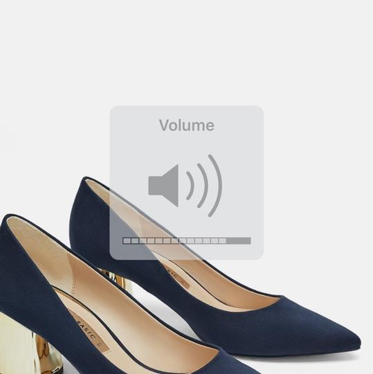 Zara blue Pumps Image 2
