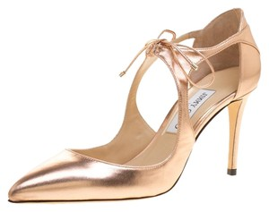 Jimmy Choo Leather Pointed Toe Metallic Pumps