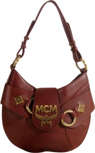 29a965f42bbe MCM Hobo Bordeaux-brown 869890 Brown Leather Satchel