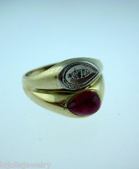 Other 14k Yellow Gold Ruby Diamonds Ladies Ring Size 8.75 Image 1