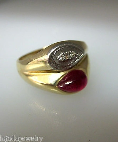 Other 14k Yellow Gold Ruby Diamonds Ladies Ring Size 8.75 Image 2