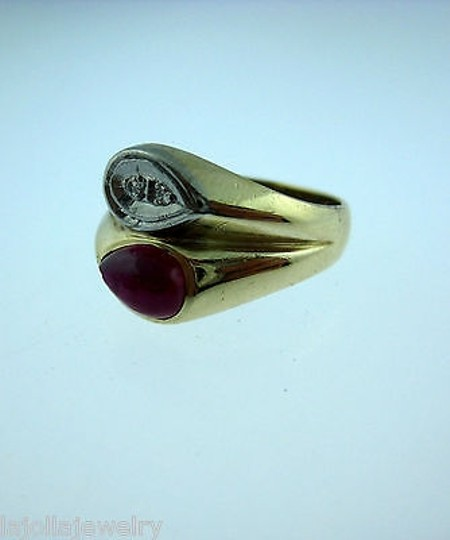 Other 14k Yellow Gold Ruby Diamonds Ladies Ring Size 8.75 Image 3