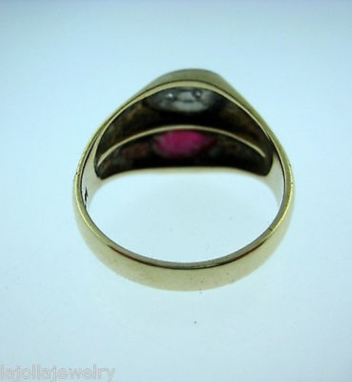 Other 14k Yellow Gold Ruby Diamonds Ladies Ring Size 8.75 Image 5
