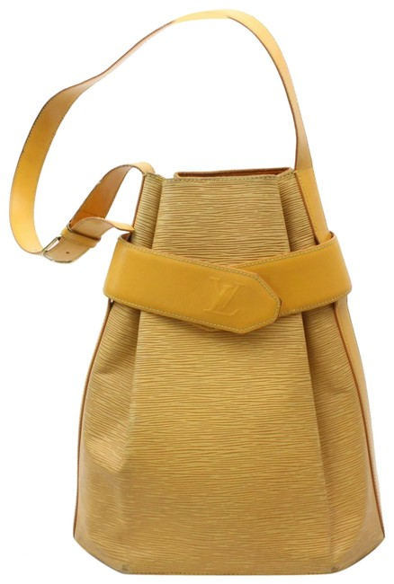 Item - Twist Bucket (Ultra Rare) Sac D'epaule with Pouch 869908 Yellow Leather Shoulder Bag