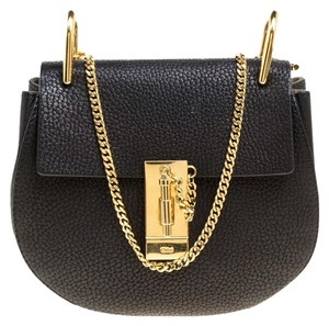 e03e78db48bc3 Chloé Drew Small Black Leather Shoulder Bag - Tradesy