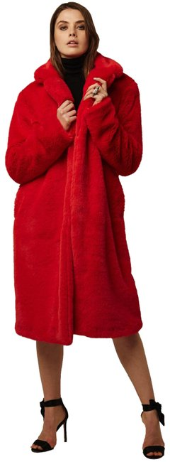 Item - Red Rare Faux Super Soft & Warm Coat Size 4 (S)