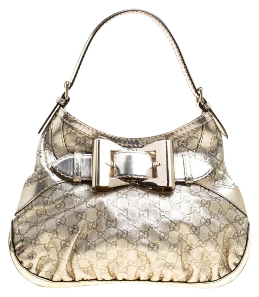dc7956348a76 Gucci Light Guccissima Medium Queen Gold Leather Hobo Bag - Tradesy