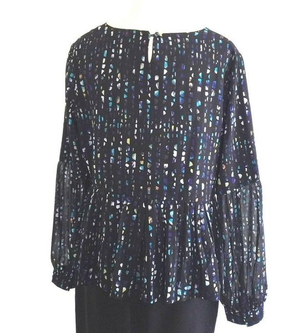 brand new 620bc 0a4b5 Musani Couture Multicolor Polyester Long Sleeve Blouse Size 14 (L)