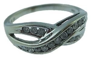Other 10k White Gold Diamonds Ladies Ring Size 4.75