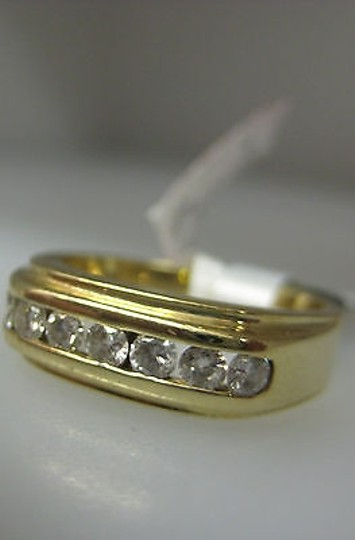Other 14k Yellow Gold Mens Diamond Ring Size 8.5 Image 1