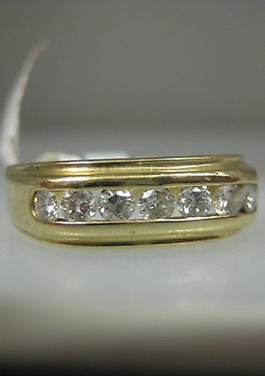 Other 14k Yellow Gold Mens Diamond Ring Size 8.5 Image 2