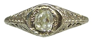 14k Yellow Gold Antique Rose Cut Diamond Ladies Ring Size 6.25