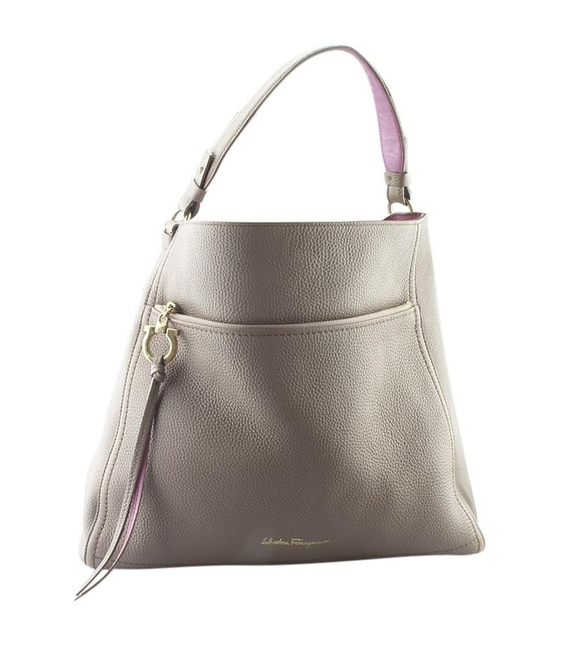 f873f99e25f2 Salvatore Ferragamo Ally Ez-21 F574 (163594) Brown Leather Hobo Bag ...